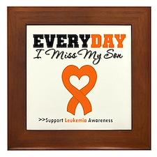 Leukemia MissMySon Framed Tile