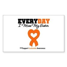 Leukemia MissMySister Rectangle Decal