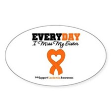 Leukemia MissMySister Oval Decal