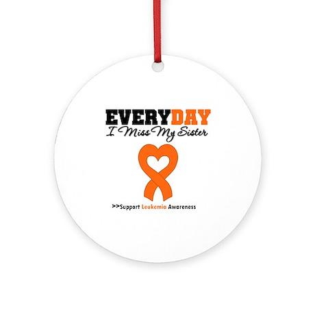 Leukemia MissMySister Ornament (Round)