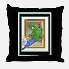 Raptured Frog on Throw Pillow