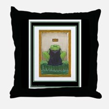 Frog Prince on Throw Pillow