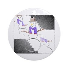 Snowman Art Christmas Ornament Ornament (Round)