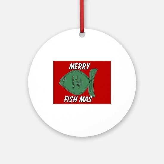 MERRY FISH MAS (CHRISTMAS) Ornament (Round)