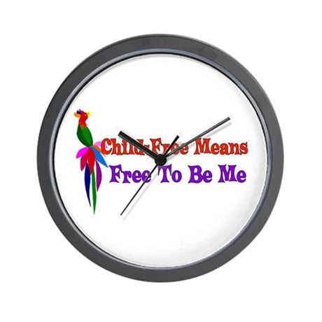 Child-Free To Be Me Wall Clock