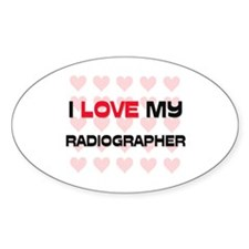 I Love My Radiographer Oval Decal