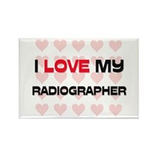 I Love My Radiographer Rectangle Magnet