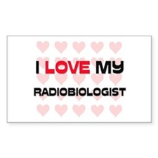 I Love My Radiobiologist Rectangle Decal