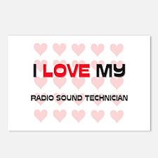 I Love My Radio Sound Technician Postcards (Packag