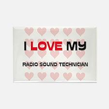 I Love My Radio Sound Technician Rectangle Magnet