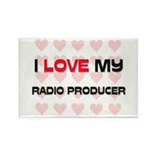 I Love My Radio Producer Rectangle Magnet (10 pack