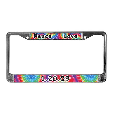 Peace Love 01 20 09 License Plate Frame