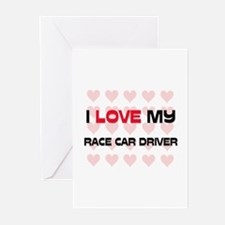 I Love My Race Car Driver Greeting Cards (Pk of 10