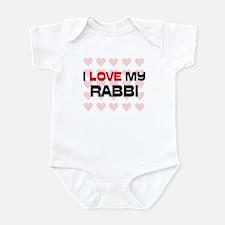 I Love My Rabbi Infant Bodysuit