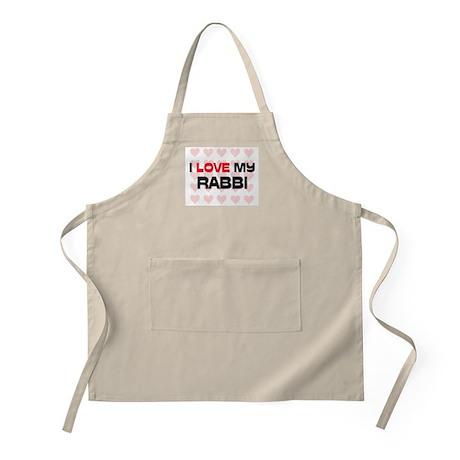 I Love My Rabbi BBQ Apron