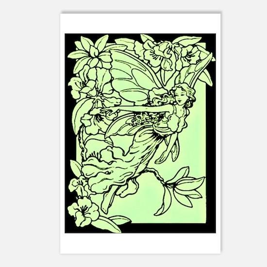 Art Nouveau Green Faerie Postcards (Package of 8)