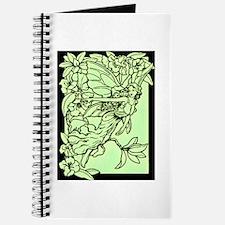 Art Nouveau Green Faerie Journal