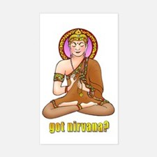 Got Nirvana? Buddha Rectangle Decal