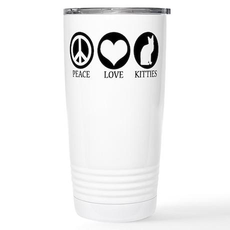 PEACE LOVE KITTIES Stainless Steel Travel Mug