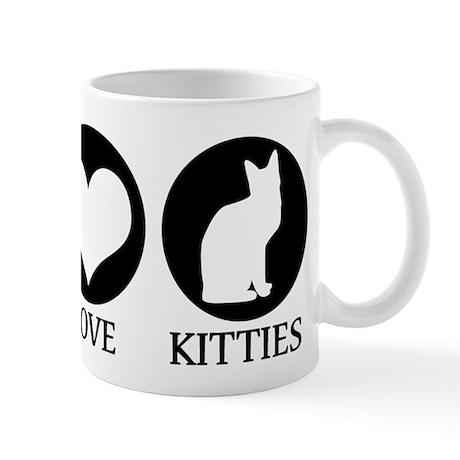 PEACE LOVE KITTIES Mug