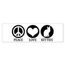 PEACE LOVE KITTIES Bumper Bumper Sticker