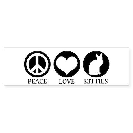 PEACE LOVE KITTIES Bumper Sticker