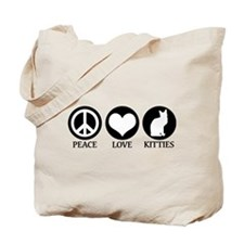 PEACE LOVE KITTIES Tote Bag