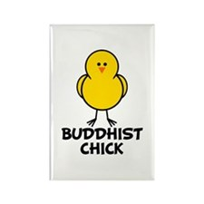 Buddhist Chick Rectangle Magnet (10 pack)