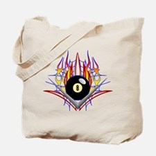 Flamed 8 Ball Tote Bag