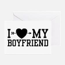 I Love My Boyfriend Greeting Cards (Pk of 10)