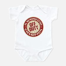 Off Duty Pi Memorization Champion Infant Bodysuit