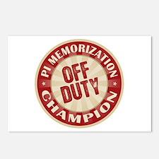 Off Duty Pi Memorization Champion Postcards (Packa
