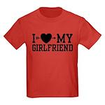 I Love My Girlfriend Kids Dark T-Shirt