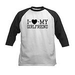 I Love My Girlfriend Kids Baseball Jersey