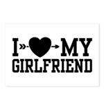 I Love My Girlfriend Postcards (Package of 8)