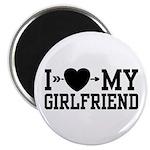 I Love My Girlfriend Magnet