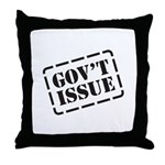Government Issue Throw Pillow