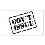 Government Issue Rectangle Sticker