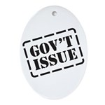 Government Issue Oval Ornament