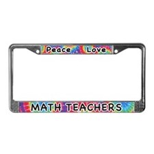 Peace Love Math Teachers License Plate Frame