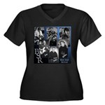Cover Women's Plus Size V-Neck Dark T-Shirt