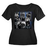Cover Women's Plus Size Scoop Neck Dark T-Shirt