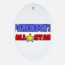 """Parkinson's All Star"" Oval Ornament"