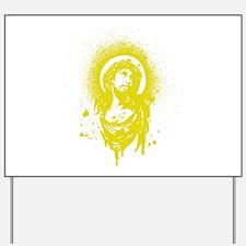 Gold Jesus Yard Sign