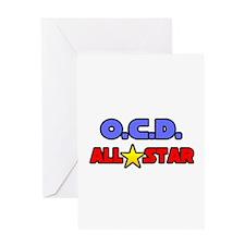"""OCD All Star"" Greeting Card"