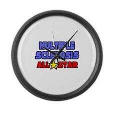 """Multiple Sclerosis All Star"" Large Wall Clock"