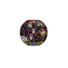 Cute Mardi gras Mini Button