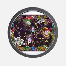 Cute Mardi gras Wall Clock