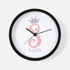 Onederful Scarlett (1) Wall Clock