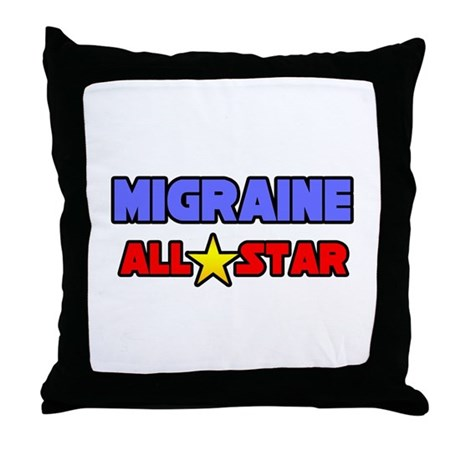 """Migraine All Star"" Throw Pillow"